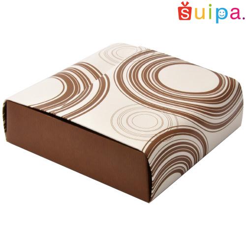 ■【送料無料】クーヘンケース ループブラウン 200個【バウムクーヘン 箱 BOX】【バウムクーヘンのトータルパッケージ】