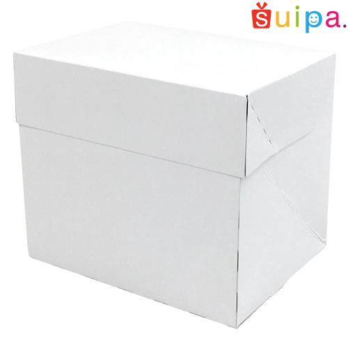 【送料無料】【日本製】ケーキ箱 新PAOケーキボックス ホワイト(内寸120×95×105H) 400個【ケーキ プリン 箱 持ち運び ラッピング】