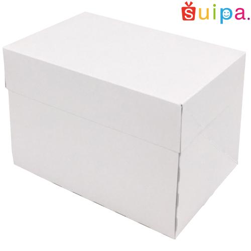 【送料無料】【日本製】ケーキ箱 新PAOケーキボックス ホワイト(内寸150×105×105H) 300個【ケーキ プリン 箱 持ち運び ラッピング】