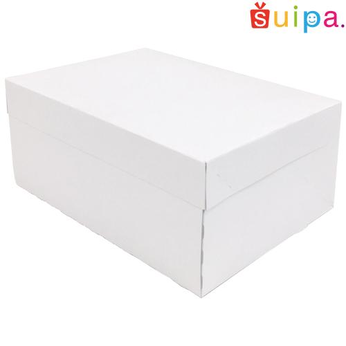 ■【送料無料】【日本製】ケーキ箱 新PAOケーキボックス ホワイト(内寸240×180×105H) 150個【ケーキ プリン 箱 持ち運び ラッピング】