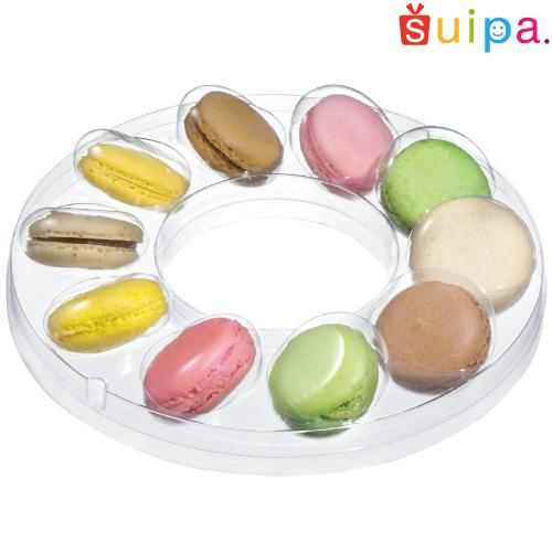 ■【送料無料】【マカロン 焼き菓子 クリアケース】PVC マカロンリング 10ケ用 250個【マカロンケース】