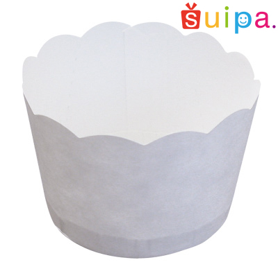 【送料無料】【カップケーキ 焼型】白無地ポテトカップ PC2-T(ミシン目入) 5,400個【マフィン カップ】【業務用 ケース販売】