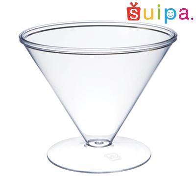 【カクテル グラス風 プラスチック】【日本製】PS 87-140 シャネルカップ 300個【脚付きカップ パフェカップ ゼリー容器 プリンカップ 使い捨てカップ プラスチック】