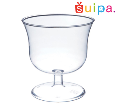 【送料無料】【ワイン グラス風 パフェ カップ 使い捨て 日本製】東光 PS 71-125 ワインカップ 500個 【脚付きカップ ワイングラス風 ゼリー容器 プリンカップ 使い捨て ワイングラス プラスチック パフェ グラス】