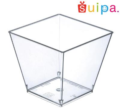 【送料無料】【日本製】PS 65角クレール 600個 【デザートカップ プリンカップ プラスチック容器 カップ】