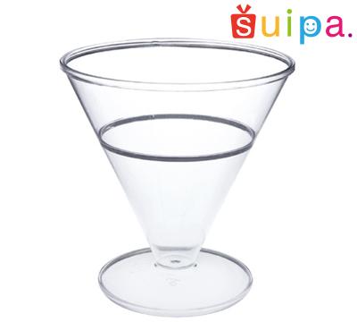 ■【カクテル グラス風 プラスチック】【日本製】PS シャネルハイ 300個 【高級感のある脚付きカップ】【カクテルグラス風】