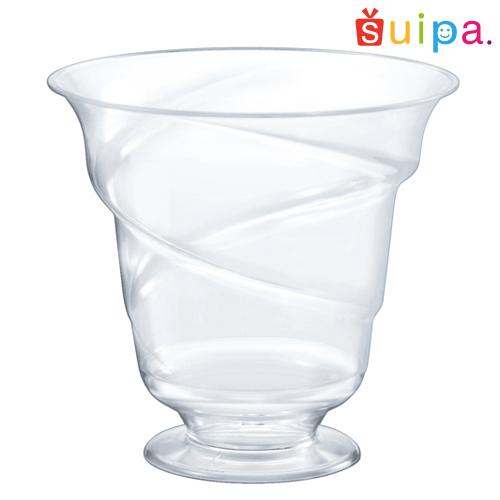 【パフェ グラス風 プラスチック】【日本製】PS 88-200 トルネードパフェ 600個【脚付きカップ パフェカップ ゼリー容器 プリンカップ 使い捨てカップ プラスチック】