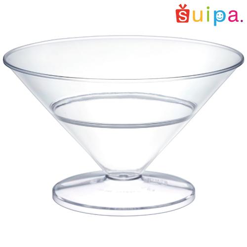 ■【送料無料】【カクテル グラス風 プラスチック】【日本製】PS 100-145 シャネルカップ(大) 200個 【高級感のある脚付きカップ】【カクテルグラス風 かき氷】