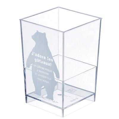 【日本製】PS アングル ベア 400個【かわいいクマ柄カップ】