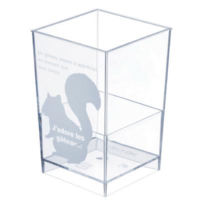 【日本製】PS アングル スクイレル 400個【かわいいリス柄カップ】