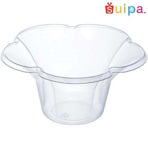 【かき氷にぴったり】ミニフルールカップ(透明) 800個【かき氷にピッタリ大容量カップ】【花びらのようなフォルムがかわいい!】【メーカー取り寄せ品】