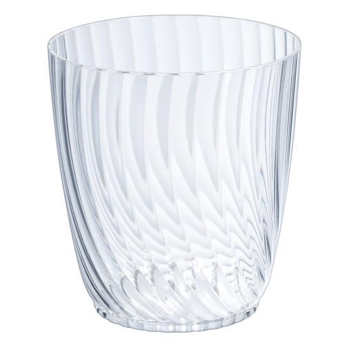 【送料無料】【日本製】PS 66-180 ルサック 400個【ガラスのような質感】【優雅なストライプエンボスがシンプルなお菓子も華やかに見せてくれます!】