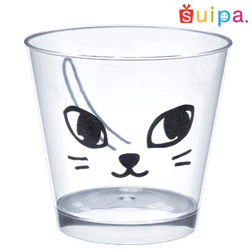 【送料無料】【日本製】PS 76-185 スタンダード クロネコ 500個 【ねこ柄 猫 ネコ模様 デザートカップ プリンカップ プリン型 プラスチック容器 カップ】