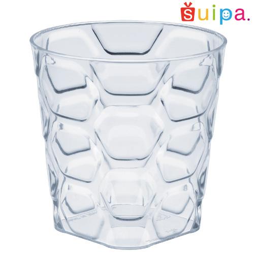 【送料無料】【日本製】PS 71-175 パベ カップ容器 400個 【ヘキサゴン柄 六角形 デザートカップ プリンカップ プリン型 プラスチック容器 カップ】