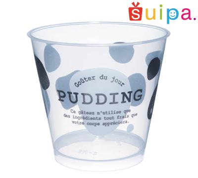 ■【送料無料】【耐熱】PP76-185 スタンダード プリン 牛柄 1,000個 【日本製】【デザートカップ プリンカップ プラスチック容器 耐熱容器】【かわいい牛柄】