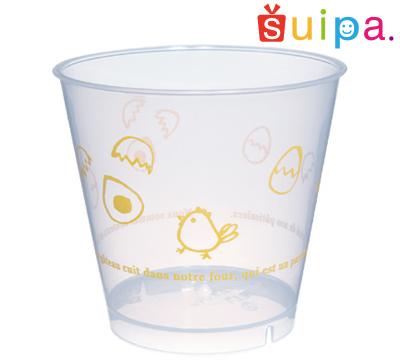 ■【送料無料】【耐熱】PP76-185 スタンダード プリン たまご 1,000個 【日本製】【デザートカップ プリンカップ プラスチック容器 耐熱容器】【かわいいたまごとひよこ柄】