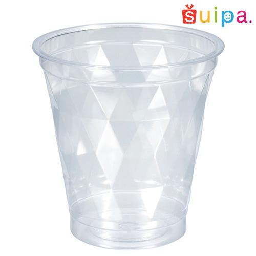 【送料無料】【かき氷にぴったり】A-PET クリアカップ ダイヤカット 1,000個【ダイヤカットがキラキラと涼しげ】【メーカー取り寄せ品】
