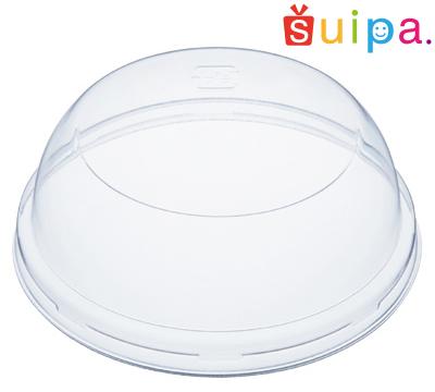 プリンカップのお店suipaのプラスチックカップに対応するプラスチック蓋です。使い捨てOK。ギフト、販売用に!嵌合可否は各カップの商品ページをご確認ください。※カップ別売り   【送料無料】A-PET 88ミリφ LAドーム蓋 3,000個