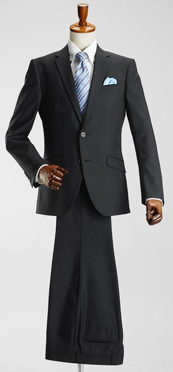 【513】YA-8号(3L)サイズ限定!【わけあり処分】スーツ メンズ 2ツ釦スタイリッシュスーツ ウール混素材 Wool Blend 春夏 パンツウォッシャブル機能 プリーツ加工 suit ※処分品につき返品交換できません