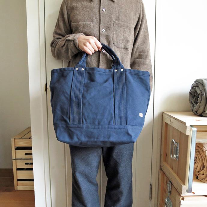 ENDS and MEANS 2way Tote Bag / Navy エンズアンドミーンズ 2ウェイ トートバッグ / ネイビー