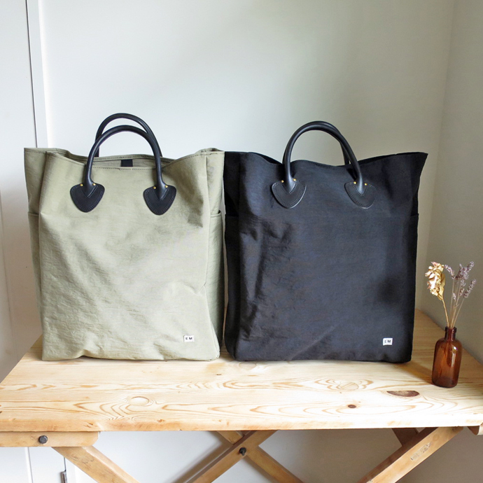 ENDS and MEANS Handle Bag / Nylon & Leather エンズアンドミーンズ ハンドルバッグ / トートバッグ / ナイロン レザー