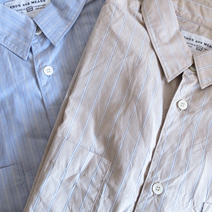 ENDS and MEANS Aldous Shirts / Stripe エンズアンドミーンズ オルダス シャツ ストライプ