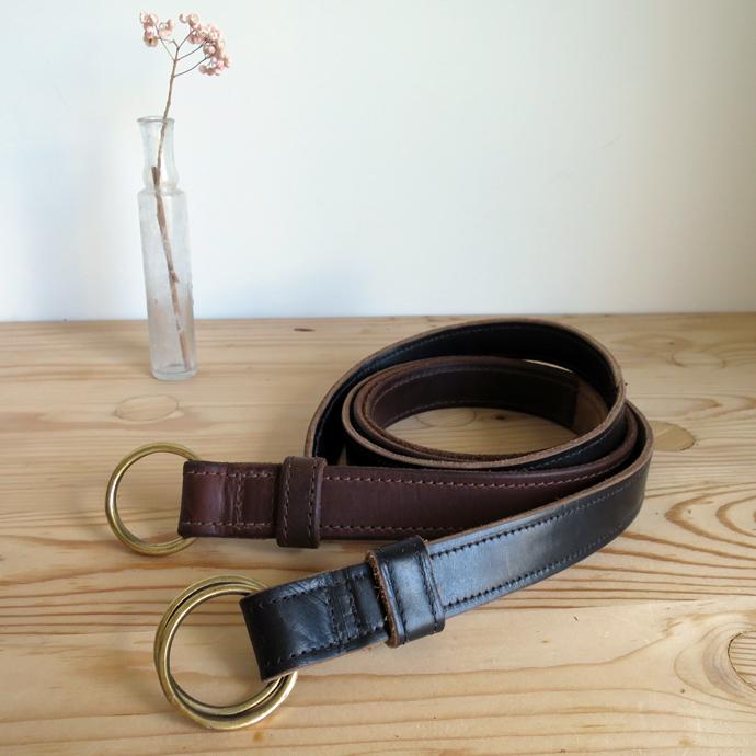 FERNANDO LEATHER Double Ring Belt / Narrow フェルナンドレザー ダブルリングベルト ナロー