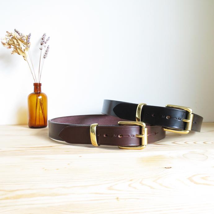 HERALDIC BELTS 4/5 inch Bridle Leather Belt ヘラルディック 1.25インチ ブライドルレザー ベルト