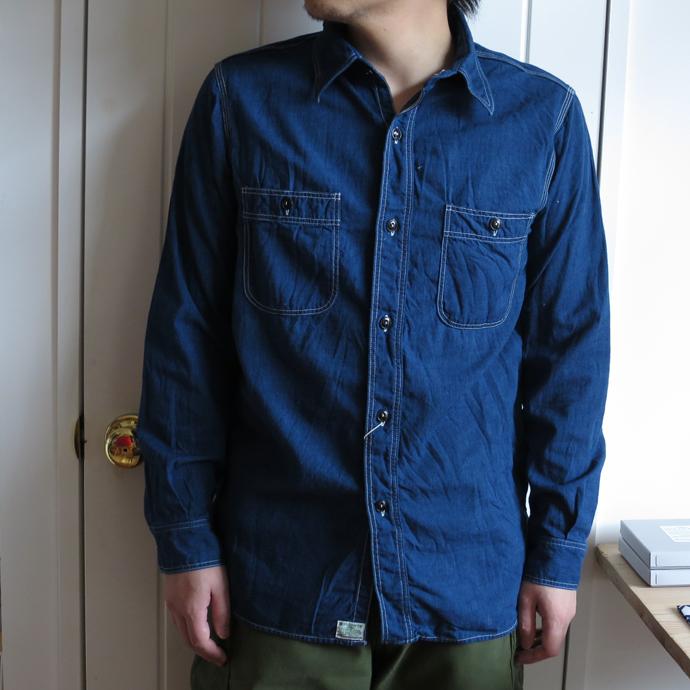 orslow オアスロウ  【Men's】CHAMBREY SHIRTS シャンブレーシャツ Indigo