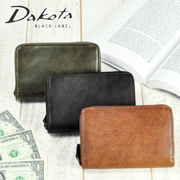 ダコタブラックレーベル Dakota black label ラウンドファスナー二つ折り財布 二つ折財布 ミニ財布 【Gaudi/ガウディ】 626802 メンズ レディース 【コンビニ受取対応商品】【送料無料】 ラッピング ラッキーシール対応