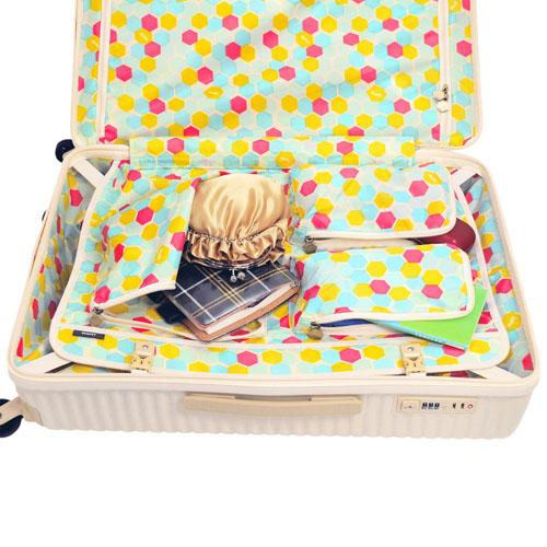 案例的坚硬旅行手提箱手提袋! Ace Ace 狩猎庄园矿井手提箱 (75 L) 主要 05747 女士妇女旅行塞子可爱旅行国内旅行重量妇女携带时尚
