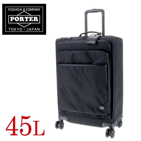 【P19倍!~4/16】吉田カバン ポーター PORTER ! スーツケースキャリーケース 旅行かばん トロリーバッグL 45L 2~3泊程度 中型 ソフト 【HYBRID/ハイブリッド】 [TROLLEY BAG(L)] 737-17815 メンズ レディース 【P10倍】 ギフト 【コンビニ受取対応商品】 送料無料