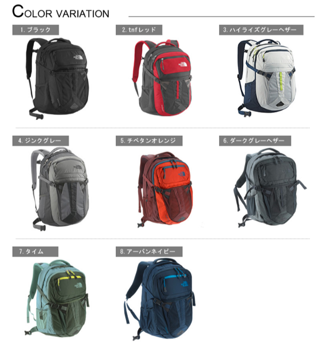 Suitcase World The North Face Backpack Large Tendencies Back Pack Arcus Navy Daypack Recon Nm71553 Mens Ladies Commuter School Black Popular Outdoor Climbing B4 A4 Anime Manga