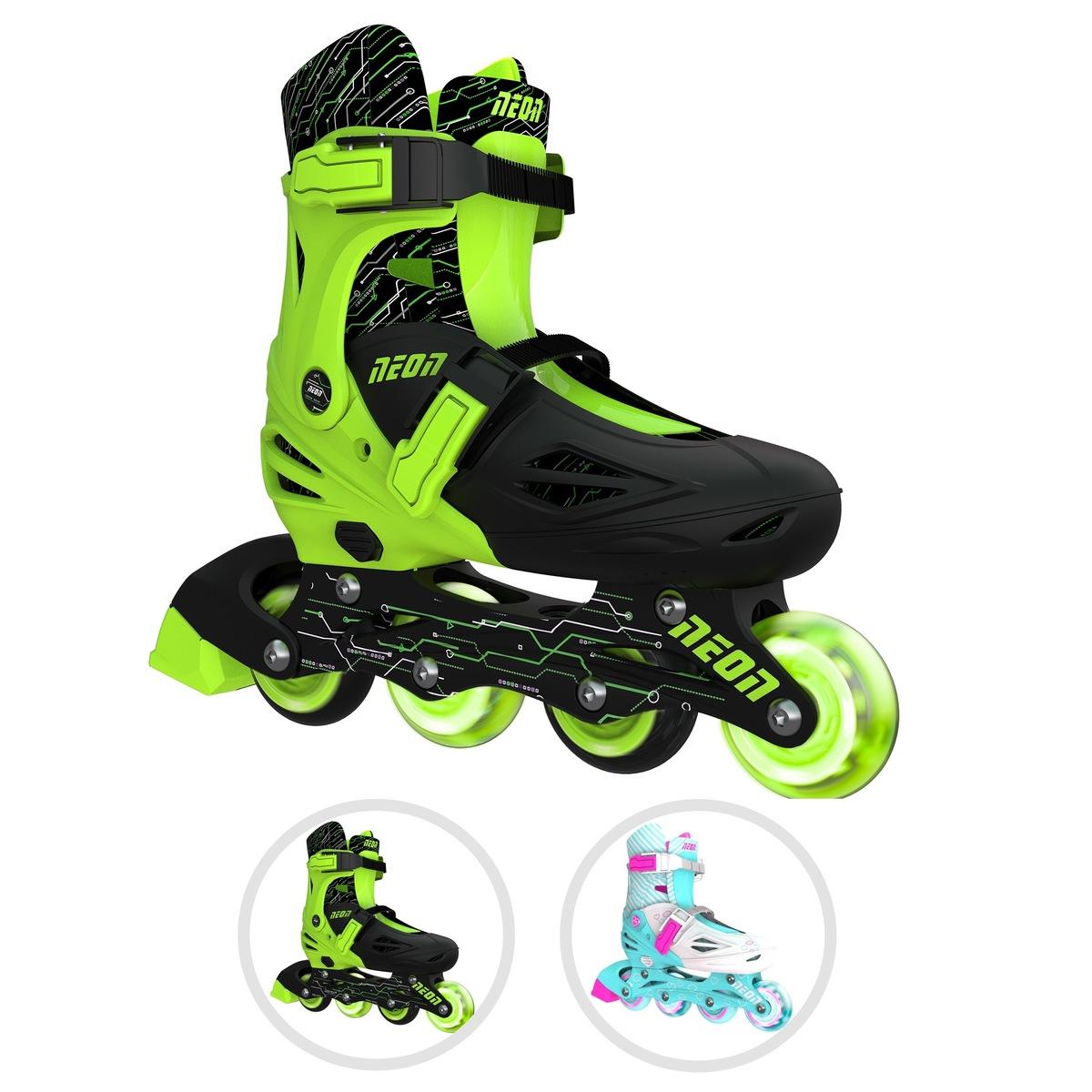 LED光るタイヤ 売れ筋ランキング 18.5cm-24cm サイズ調整可能 アウトレット 安定 子供用 初心者向け Y Volution Skates Roller Neon ローラースケート ローラーシューズ スケート Combo