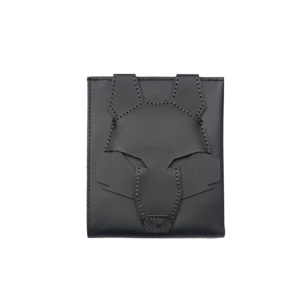 オオカミ 動物 二つ折り 財布 ブラック 本革 鹿 無料 豹 ウォレット アニマル 評判 クロオオカミ 一律送料無料 公式 牛 狼 ORIBAGU折り紙バッグ