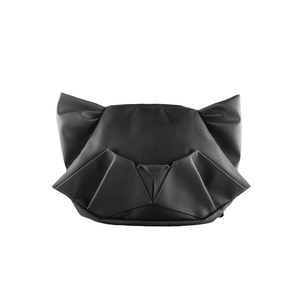 猫 アニマル バックパック ショルダーバッグ お得 動物 鞄 リュック 通学面白い ORIBAGU折り紙バッグ ブラック グレー 可愛い 一律送料無料 マルチバッグ 公式 ネコ 評判