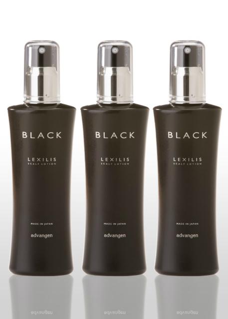 レキシリス.ブラックスカルプローション3本セット【医薬部外品】【薬用育毛剤】【LEXILIS. BLACK】