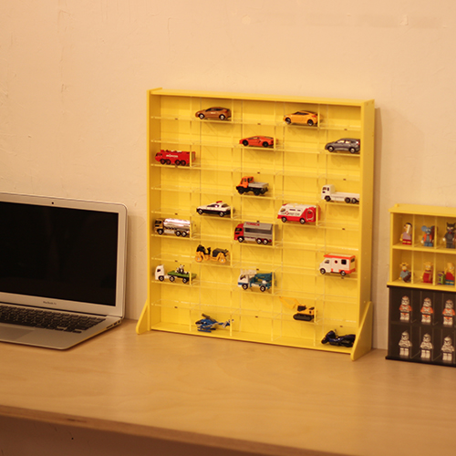 送料無料/新品 トミカ 記念日 など ミニカー 50台 がきれいに 展示 できる コレクション ケース 人気商品 car 白 DIY collection mini 黄色 50 コレクションケース caseアクリル