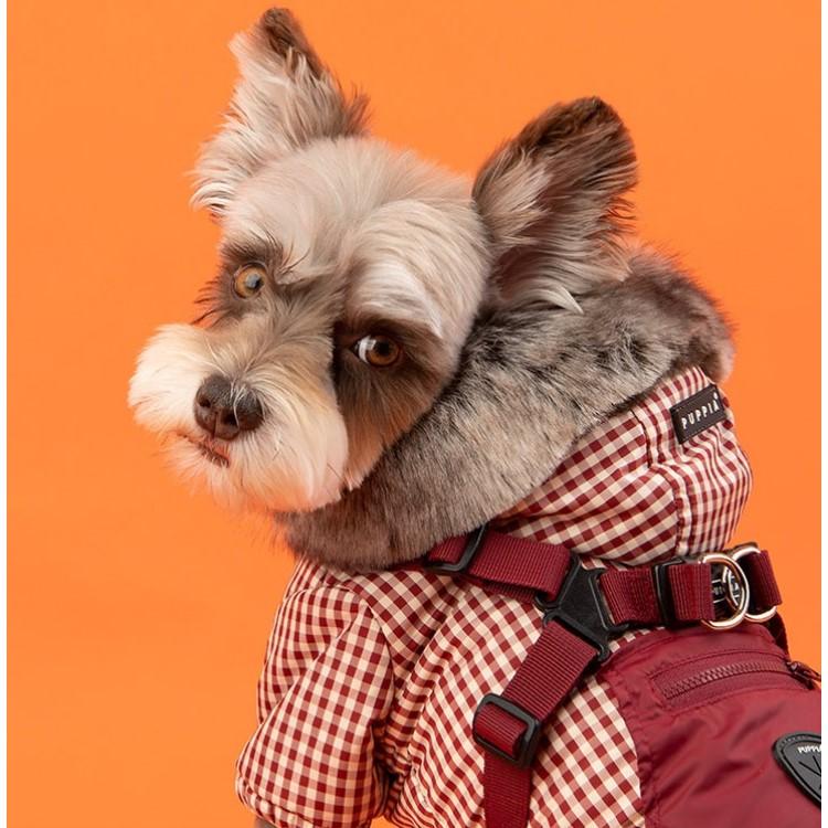 爆安プライス puppia 犬用 出色 フードハーネスジャンパー