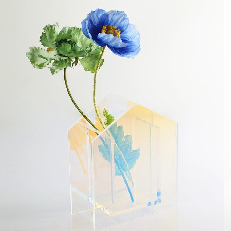 卓出 アクリル製 花瓶 訳あり品送料無料 ハウスタイプ 韓国お取り寄せ
