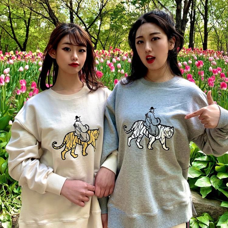 虎刺繍トレーナー 公式サイト 男女兼用 激安超特価