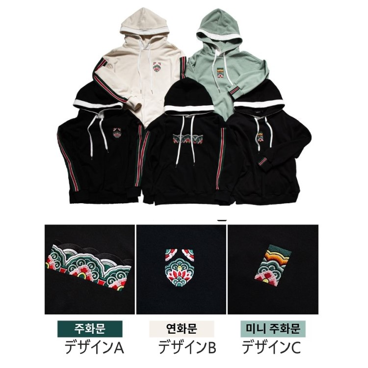 ☆最安値に挑戦 爆安 韓国伝統模様刺繍パーカー 男女兼用