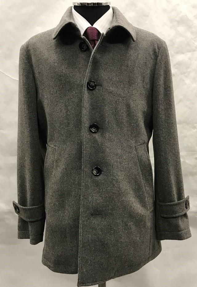 ウールステンカラーショート丈コート