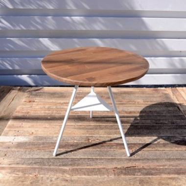TRIPOD TABLE - PINE woodtop low / トライポッドテーブル - パインウッドトップ ロウ