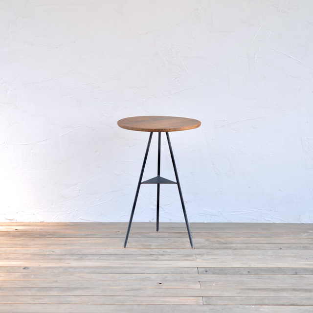 TRIPOD TABLE - PINE woodtop middle / トライポッドテーブル - パインウッドトップ ミドル