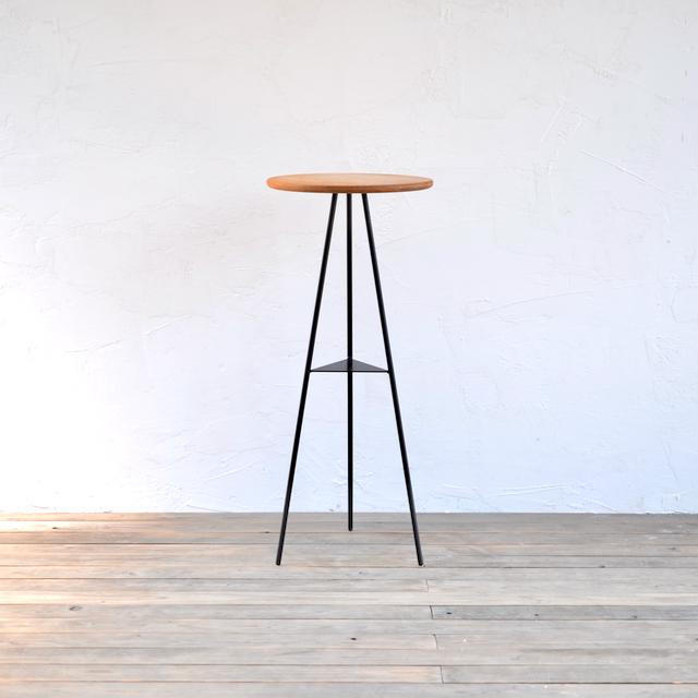 TRIPOD TABLE - OAK woodtop high / トライポッドテーブル - オークウッドトップ ハイ