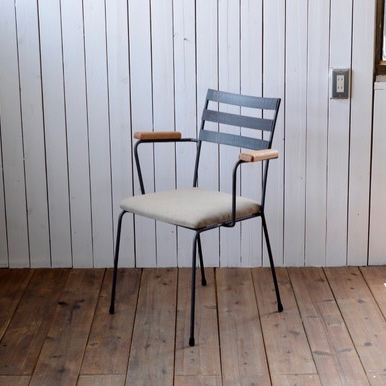 ARM CHAIR type 3 - fabric seat × natural OAK arm / アームチェア 背もたれ3本 - ファブリックシート × ナチュラルオーク アーム