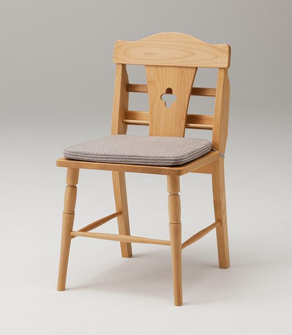 無垢材 2点セット ダイニング チェア アルダー 収納付き 椅子ナチュラル 木製 送料無料 2脚 収納付き 高級志向の家具