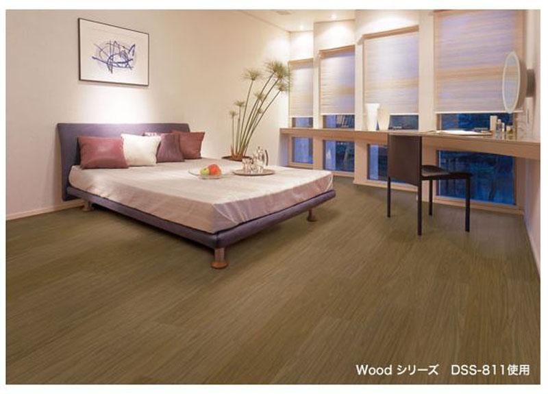 取り付け簡単 100%リサイクル可能なエコ床材 送料無料 売れ筋ランキング エコ建材 ウッド エコクラテツフロアー 品番:DSS-806 日本産