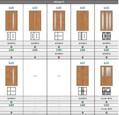 ラシッサS 室内ドア 親子ドア 一般ドア ASTO-LGG ノンケーシング枠(固定枠) ガラスタイプ リクシル